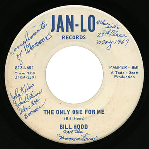 Bill Hood – The Only One For Me – Jan-Lo