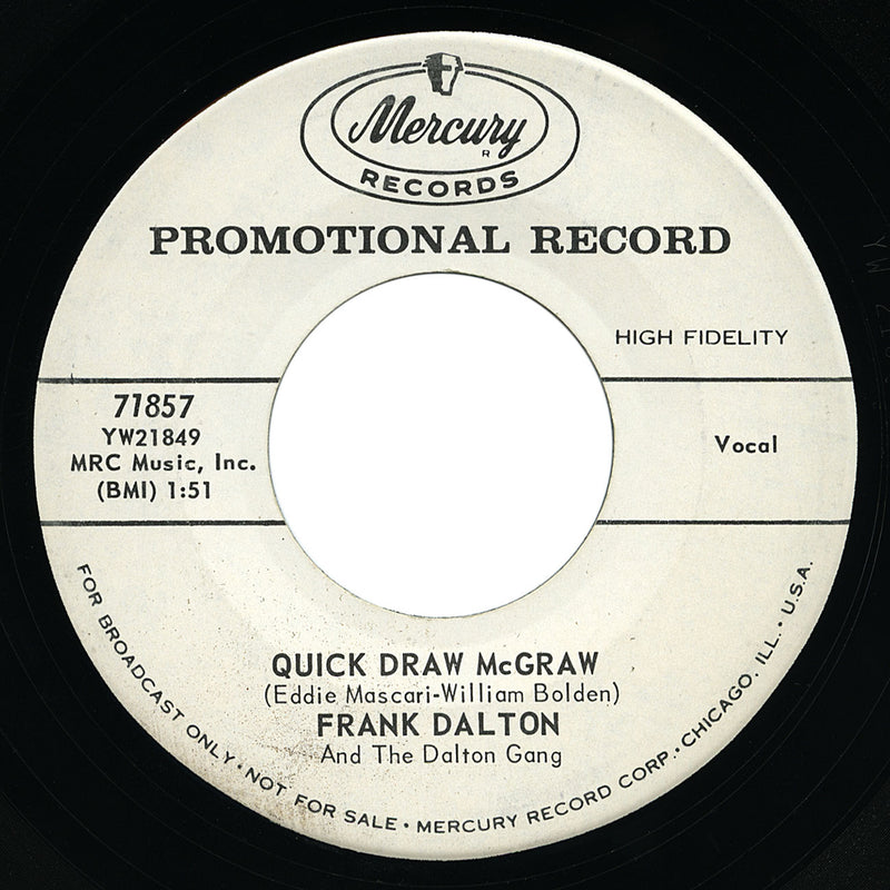 Frank Dalton – Quick Draw McGraw – Mercury
