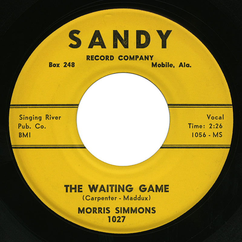 Morris Simmons – The Waiting Game – Sandy