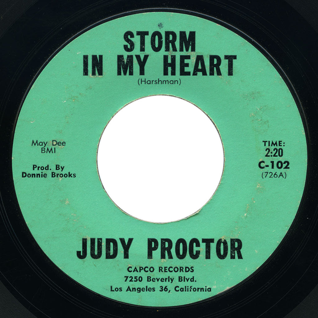 Judy Proctor - Storm In My Heart / Bye Bye Baby - Capco