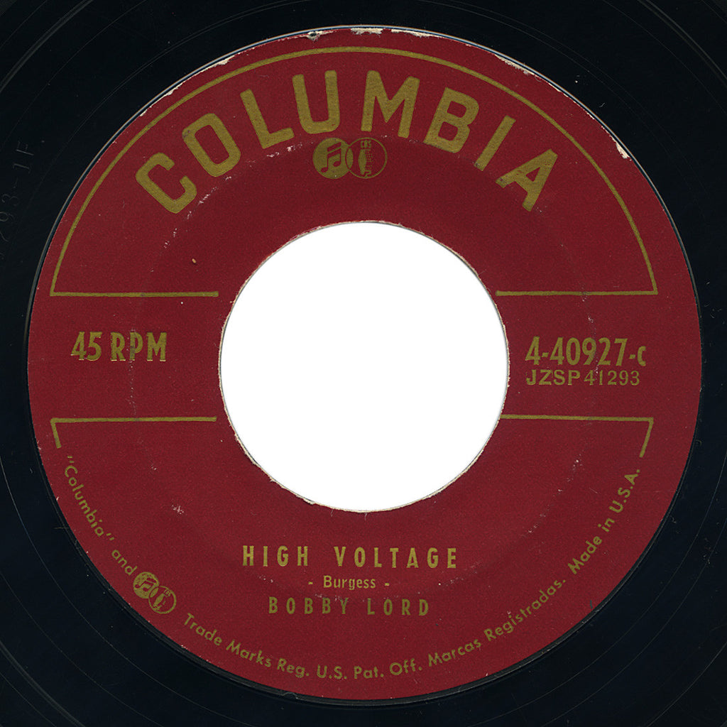Bobby Lord – High Voltage – Columbia