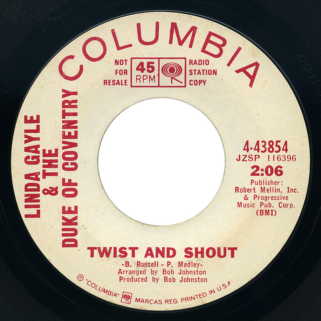 Linda Gayle & The Duke Of Coventry – Twist And Shout – Columbia