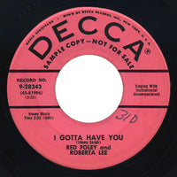 Red Foley – Midnight / I Gotta Have You – Decca