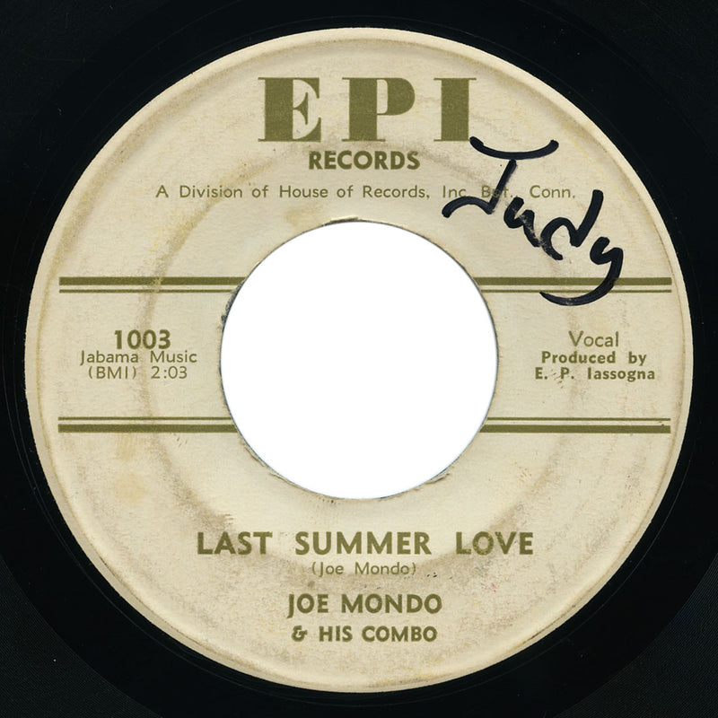 Joe Mondo & His Combo - Last Summer Love / Doin' The Thing - EPI