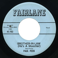 Paul Peek - Brother-In-Law (He's A Moocher) / Through The Teenage Years - Fairlane