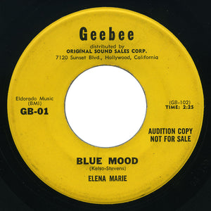 Elena Marie - Blue Mood / Soldier Boy - Geebee