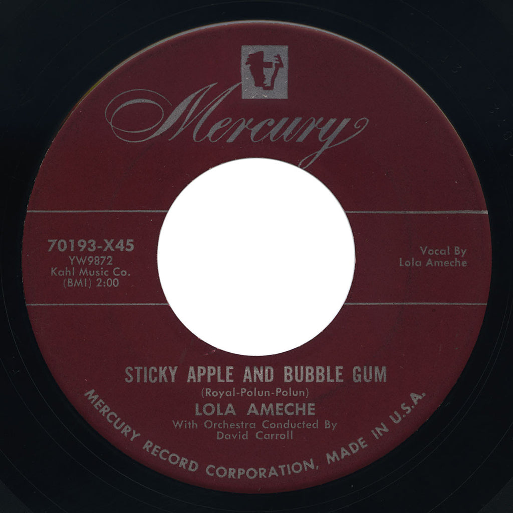 Lola Ameche – Sticky Apple And Bubble Gum – Mercury