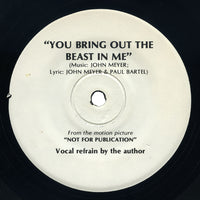 John Meyer & Paul Bartel – Not For Publication / You Bring Out The Beast In Me