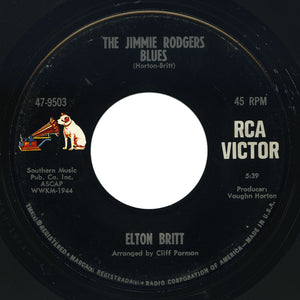 Elton Britt – The Jimmie Rodgers Blues / Singin' In The Pines – RCA