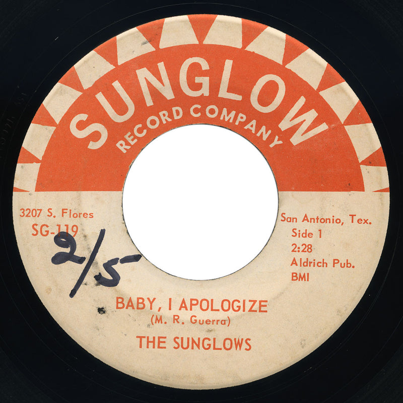 Sunglows – Baby, I Apologize / Cut Across Shorty – Sunglow