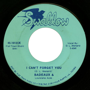 Badeaux & Louisiana Aces – I Can't Forget You – Swallow