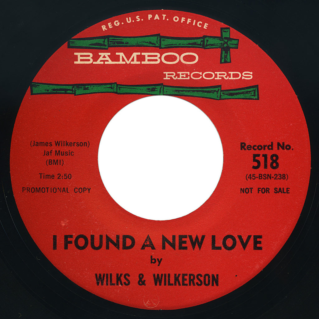 Wilks & Wilkerson – I Found A New Love / Young Lover – Bamboo