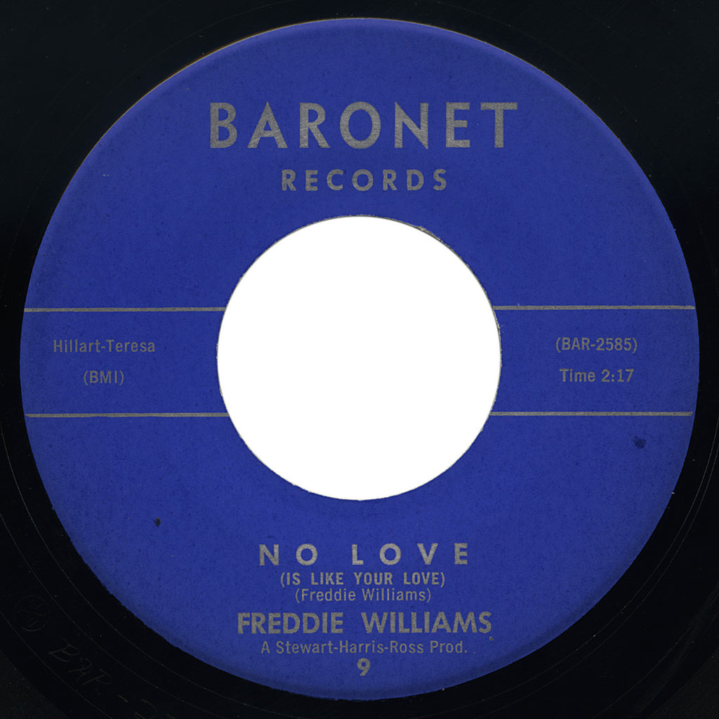 Freddie Williams – No Love (Is Like Your Love) – Baronet