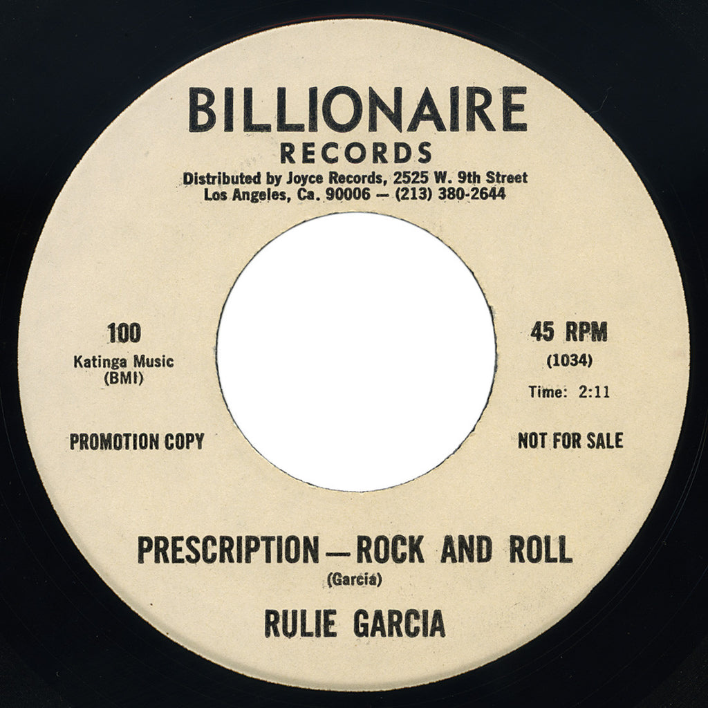 Rulie Garcia – Prescription - Rock And Roll – Billionaire