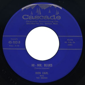 Leslie Sneed with The Sneeds – Hi - Mr. Blues – Cascade
