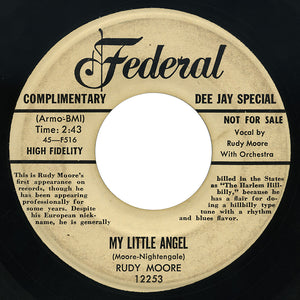 Rudy Moore – My Little Angel – Federal