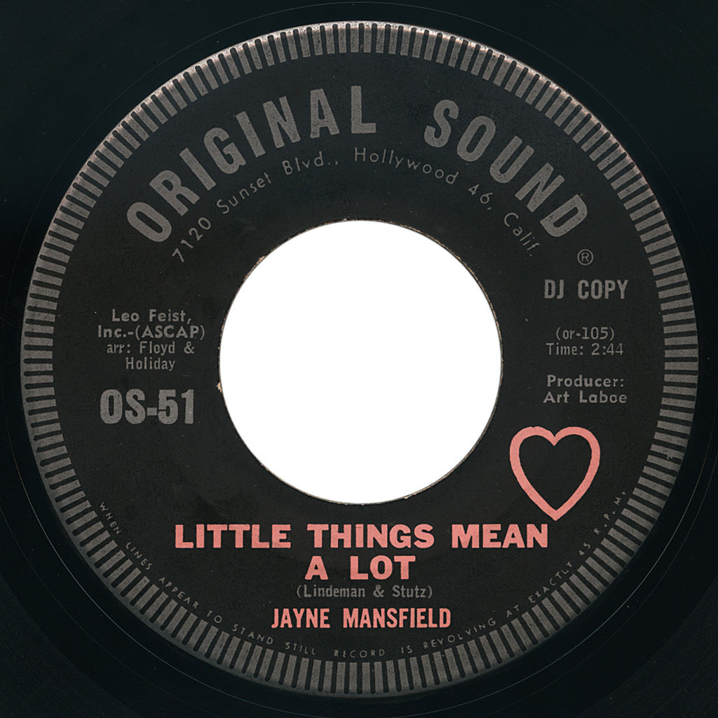 Jayne Mansfield – Little Things Mean A Lot – Original Sound