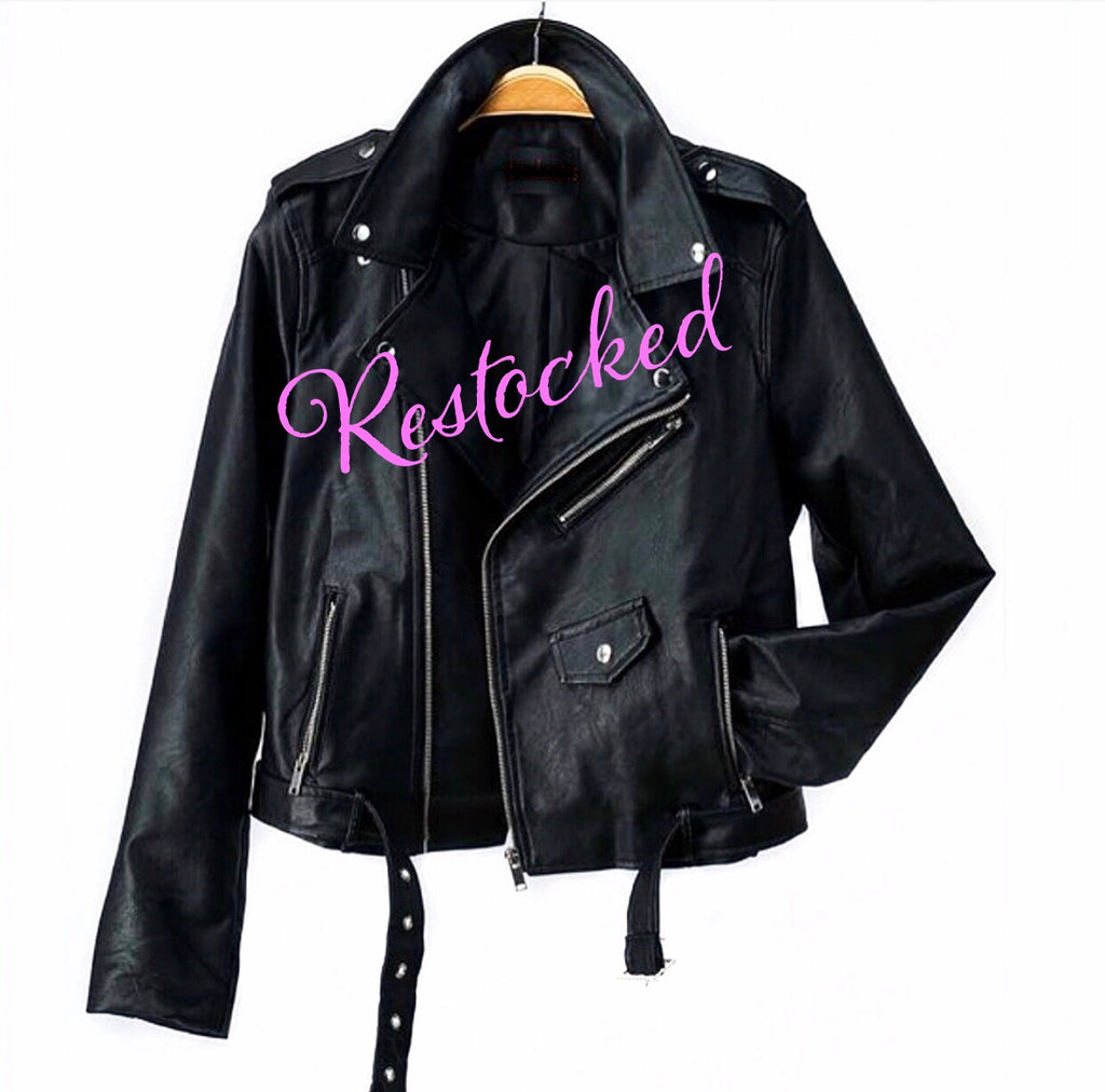 **RESTOCKED Black Moto Jacket