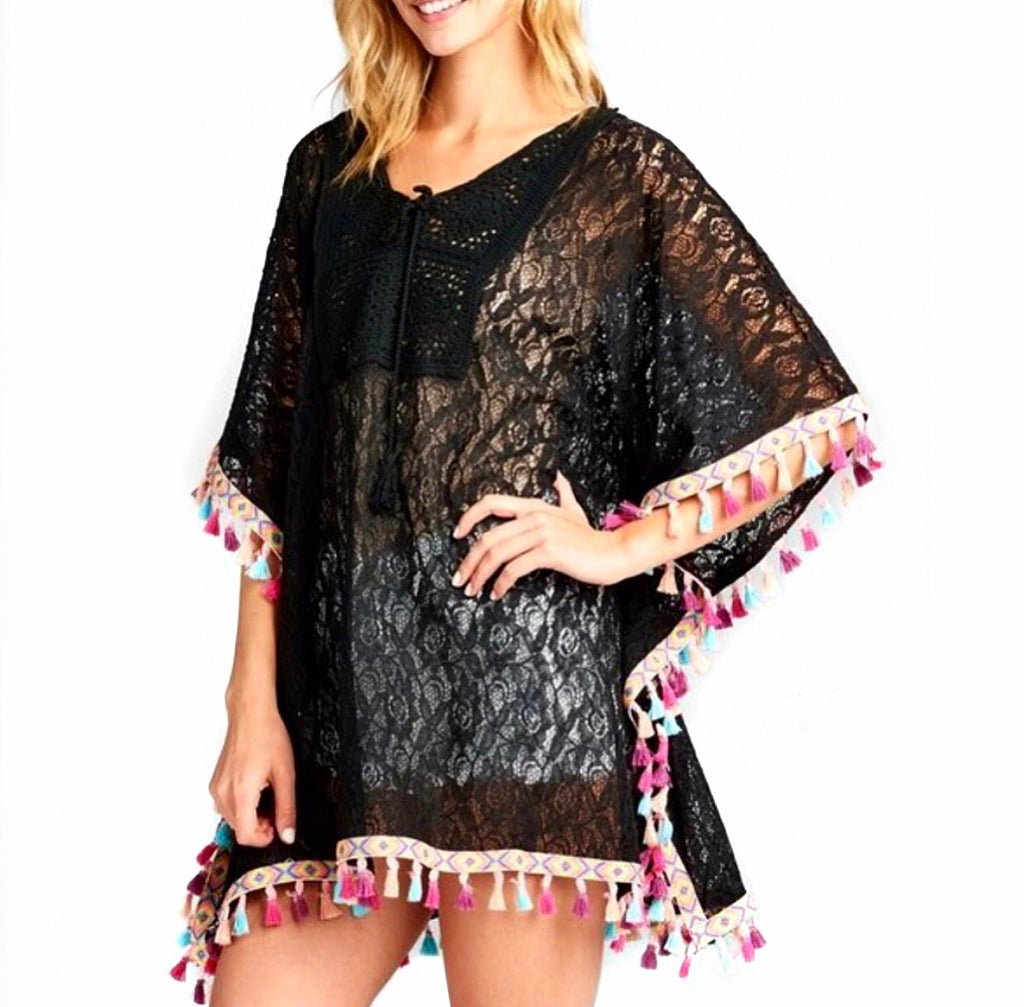 #Beachy Black Lace Cover Up