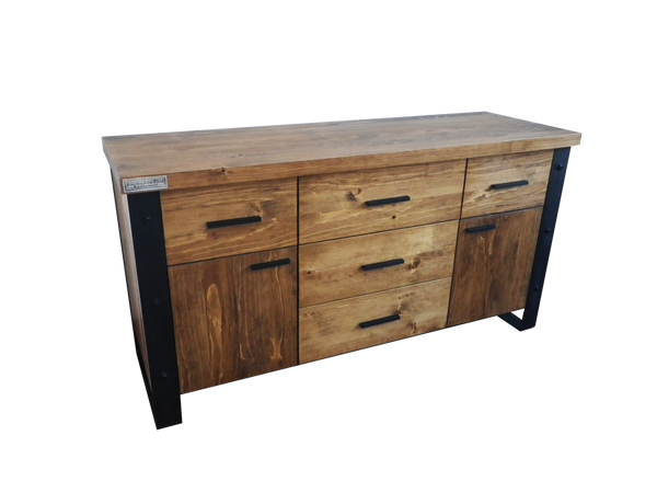 Salle manger atelier bois 39 art collection b nisterie mobilier con - Buffet massif contemporain ...