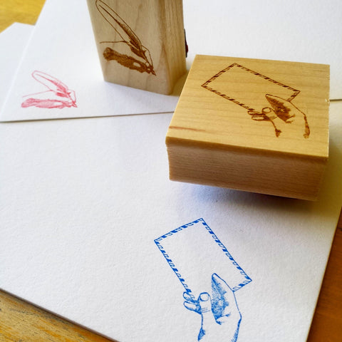 Letter & Quill Rubber Stamps