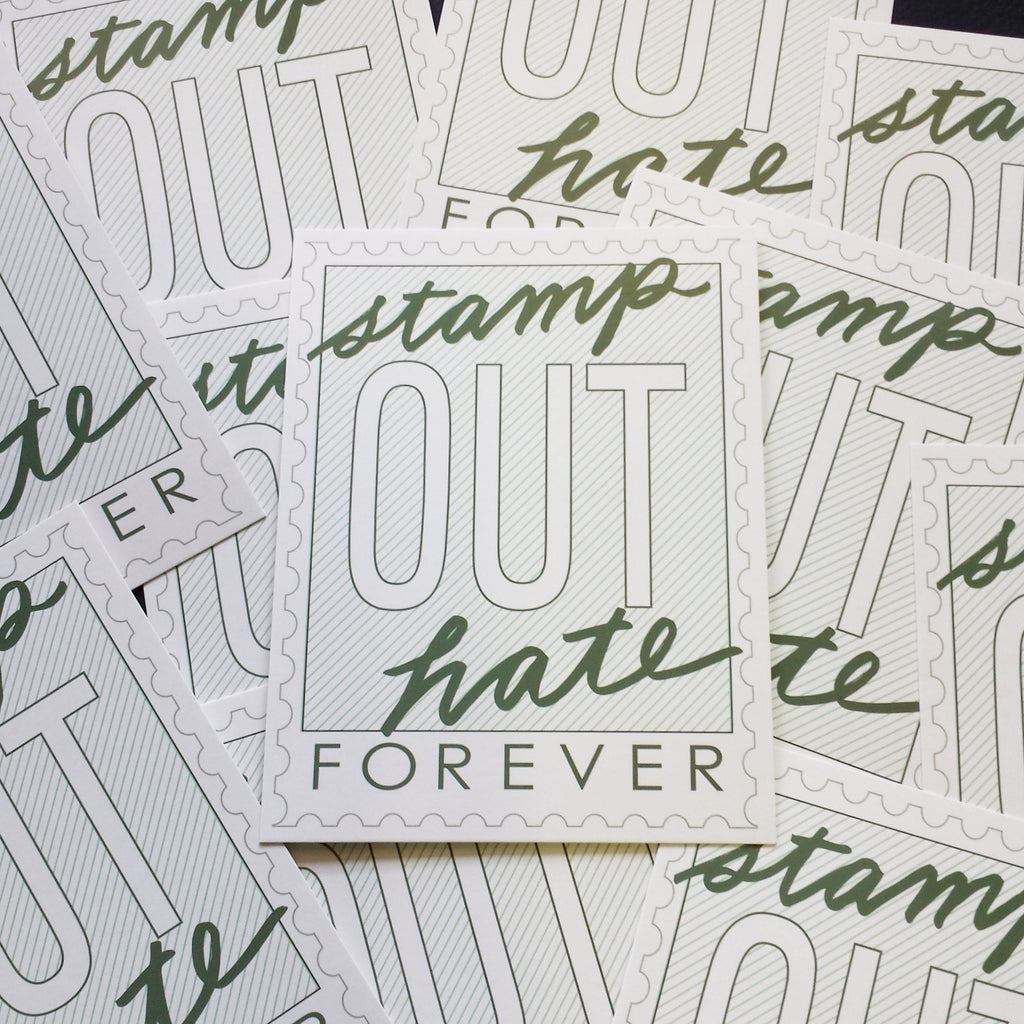 Stamp Out Hate Postcards