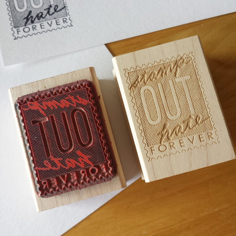 Stamp Out Hate Rubber Stamp
