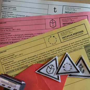 Initiative Response forms with award patches.