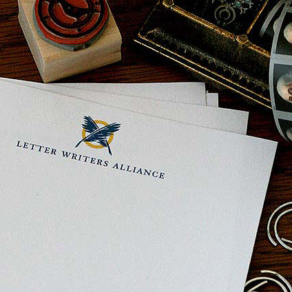 Close-up of L.W.A. logo on stationery header.