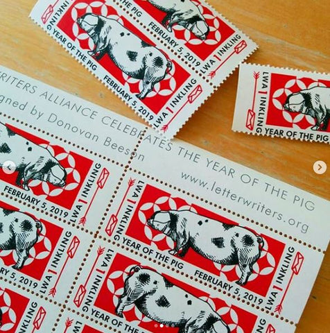 Year of the Pig Artistamp