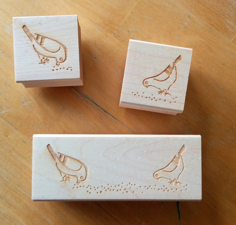 Pigeon Mascot Rubber Stamps