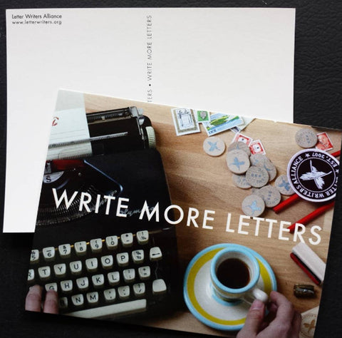 Write More Letters Postcards