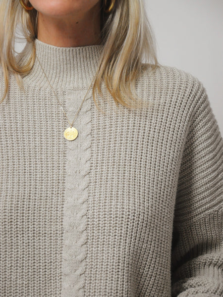Fawn Cableknit sweater