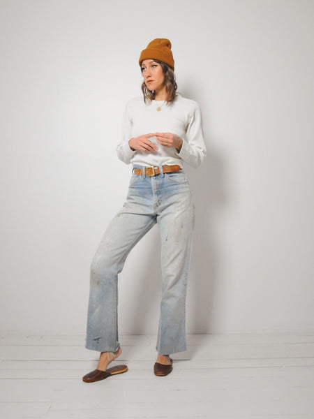 70's Faded Light wash Jeans 32x30