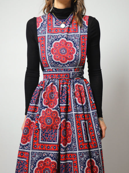 70's Bandana Apron Dress