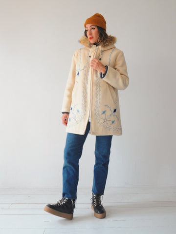 70's Hudson's Bay Embroidered Coat