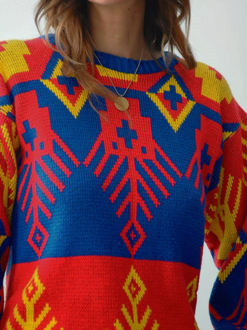 Geometric Sweater Dress