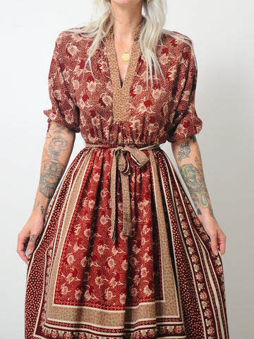 70s Autumn Harvest Dress