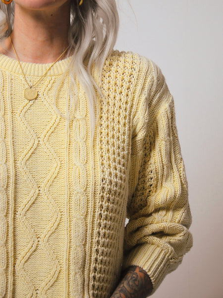Blonde Cableknit sweater