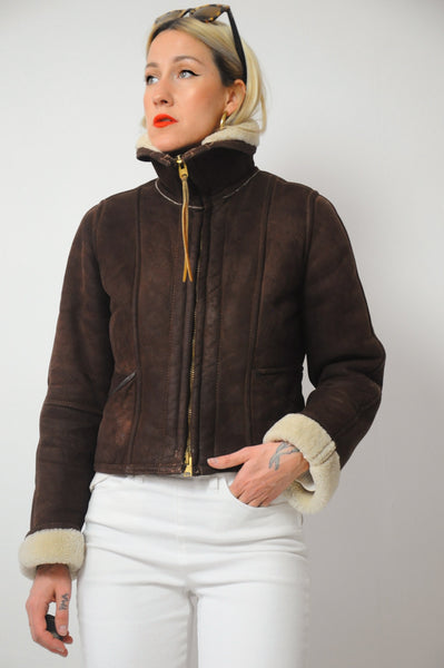 70's Shearling Bomber Coat
