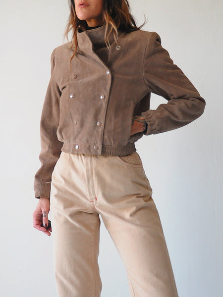 Draped Suede Jacket