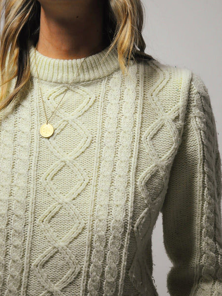 Ivory Cableknit sweater