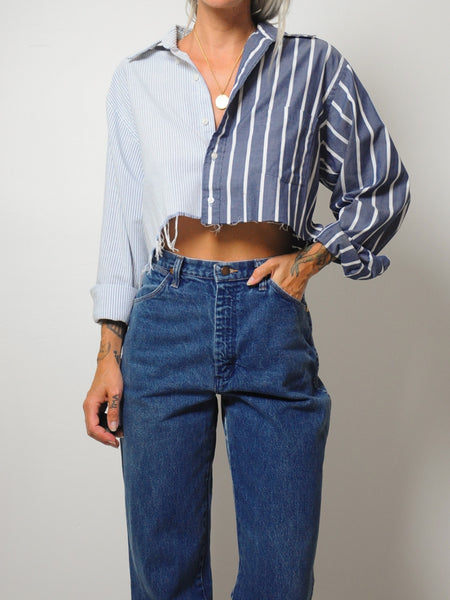 Menswear Split Striped Shirt
