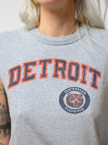 Gray Detroit Tigers Thin Tee