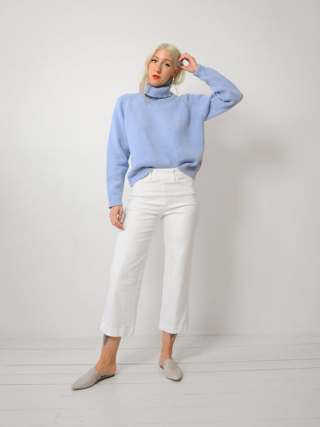 Periwinkle chunky knit sweater