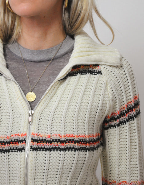 70s Striped Andover Cardigan