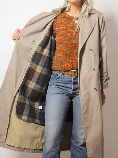 Flannel Lined Trench Coat