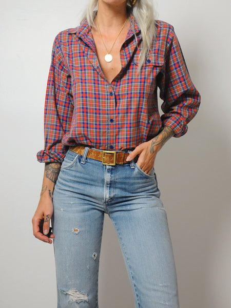 Thin Fall Plaid Shirt