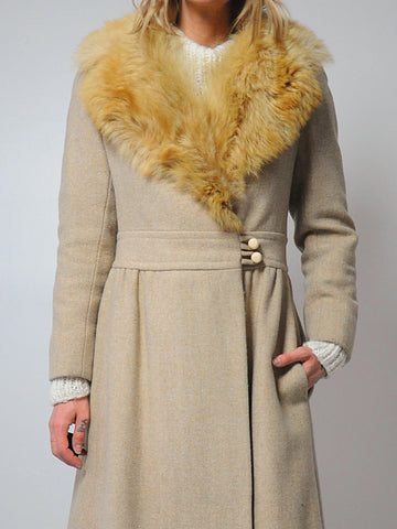 Pierre Cardin Fur Collar Coat
