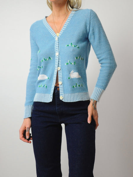 Rabbit in the Grass Cardigan